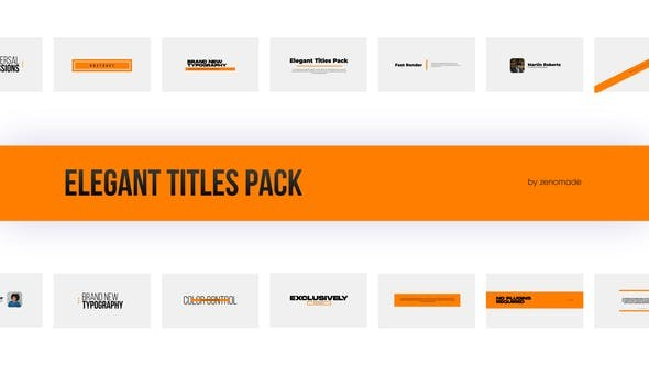 Elegant Titles Pack 32090788 - After Effects Project Files