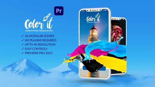 Color it Smartphone Presentation for Premiere Pro 31779980 - Premiere Pro Templates