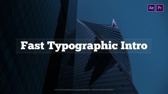 Fast Typographic Intro 23252244 - Premiere Pro Templates