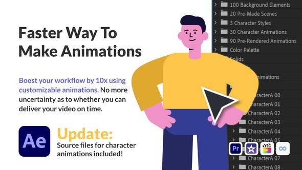 Character Animation Pack - Office and Corporate 30222701 - After Effects Project Files