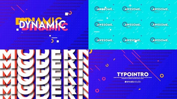 Typo Intro 31996251 - After Effects Project Files