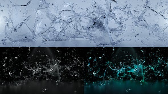 Splashing Water Logo Reveal 31941717 -  After Effects Project Files