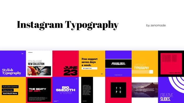 Instagram Typography 321607907 -  After Effects Project Files