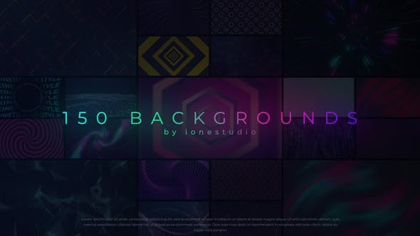 150 Loop Backgrounds 31993643 - After Effects Project Files