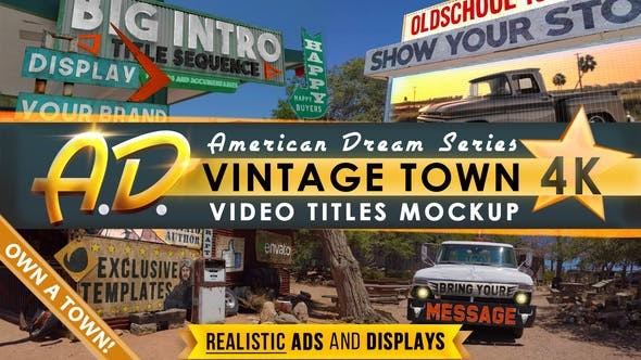 Vintage Town Titles Intro | AD 31902618 - After Effects Project Files