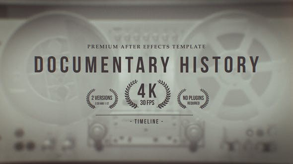 Documentary History Timeline 25332527 - After Effects Project Files