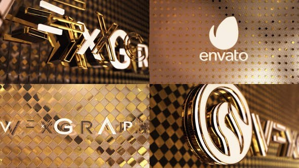 Black & White Gold Logo Opener 24000531 - After Effects Project Files