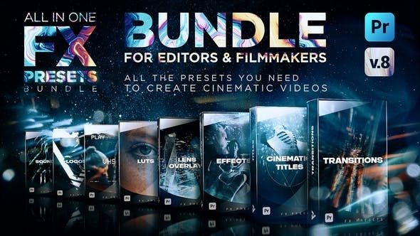 Montage Presets for Premiere Pro | Transitions, Titles, Effects, VHS, LUTs & More V8 24028073 - Premiere Pro Templates