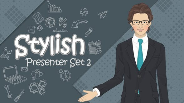 Stylish Presenter Set 2 33011646 - After Effects Project Files