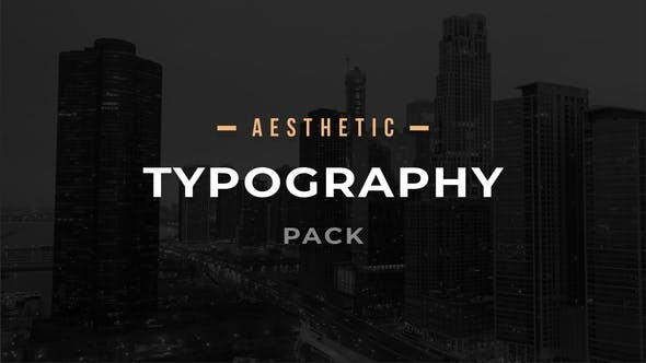 Aesthetic Typography Pack 33008355 - After Effects Project Files