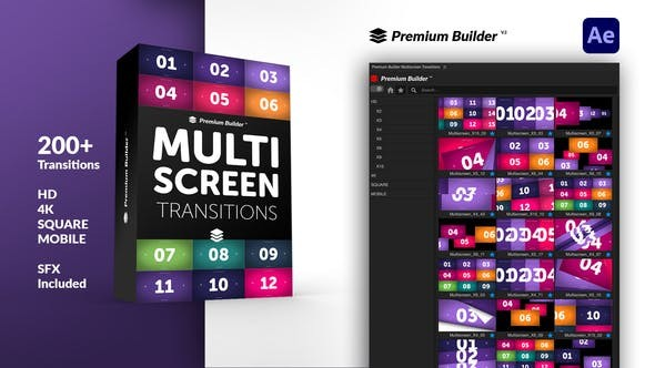 Multiscreen Transitions 32322399 - After Effects Project Files