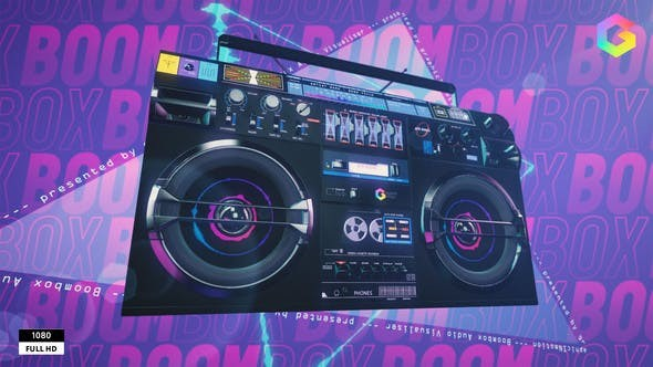Boombox Audio Visualizer 33336801 - After Effects Project Files