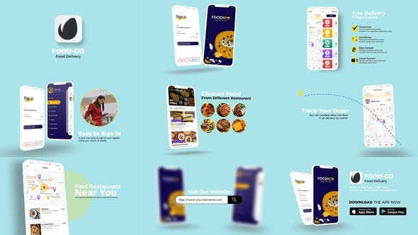 Food Delivery App Promo 33059477 - After Effects Project Files