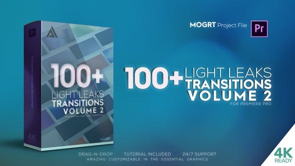 4K Light Leaks Transitions Vol 2 For Premiere Pro 33034688