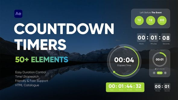 Countdown Timers  33032137 - After Effects Project Files