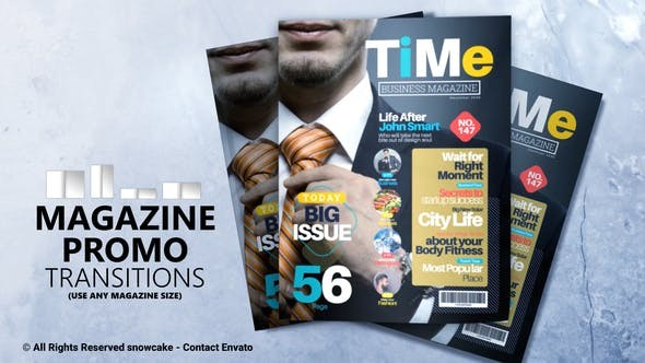 Magazine Promo - Transitions 32882453 - After Effects Project Files
