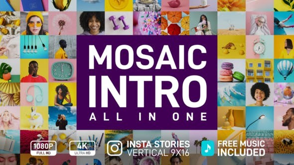 Mosaic Intro 33065272 - After Effects Project Files