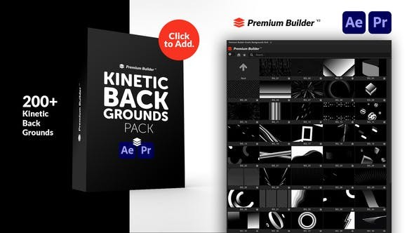 Kinetic Backgrounds Pack 32854609 - After Effects Project Files
