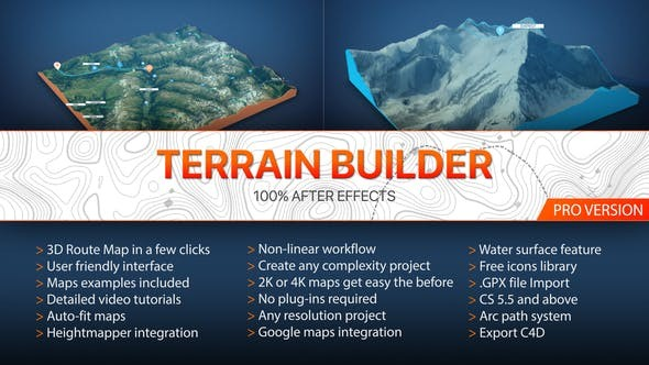 Terrain Builder Pro V2 20788566 -  After Effects Project Files