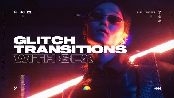 Glitch Transitions 32520300 - After Effects Project Files