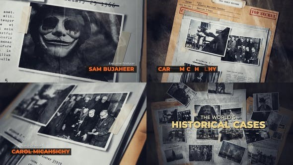 History | Secret Files 32425734 - After Effects Project Files