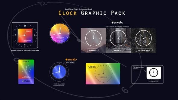 Real Time Clock Animation Pack 33784578 - After Effects Project Files