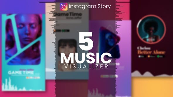 Music Visualizer Template for Instagram Story 33858999 - After Effects Project Files