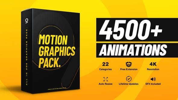 4500+ Graphics Pack V5 25010010 - After Effects Project Files
