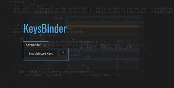 KeysBinder | After Effects Script 12606382 - After Effects Scripts