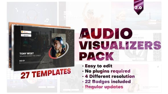 Audio Visualizers Pack 28006092 - After Effects Project Files