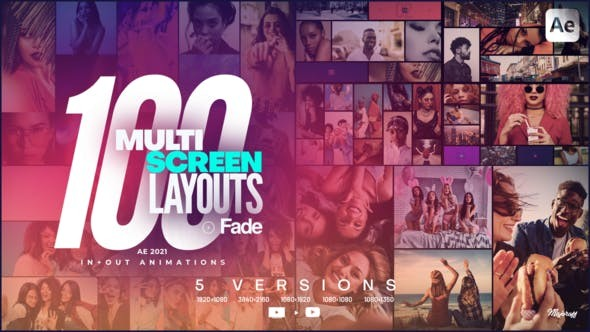 100 Multi-Screen Layouts // Fade 33348672 - After Effects Project Files