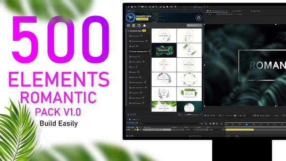 Romantic Pack V1.0 33485560 - After Effects Project Files